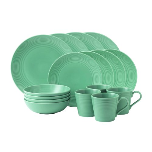 Gordon Ramsay Maze 16-Piece Dinnerware Set, Teal