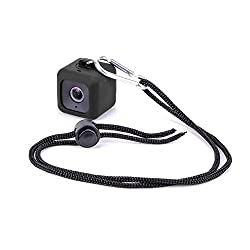 Minisuit Pendent Case for Polaroid Cube HD with Necklace Lanyard and Carabiner Clip - Black
