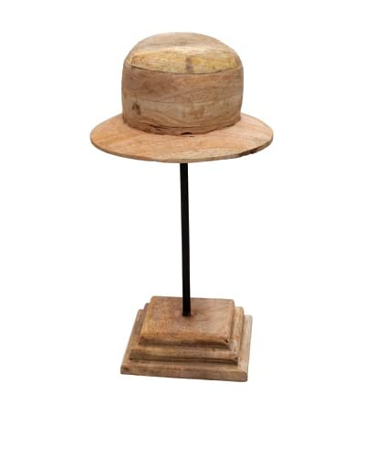 Edwin, Wood Hat Mold, Tan