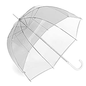 "34"" Children's Clear Plastic Dome Bubble Rain Umbrella"