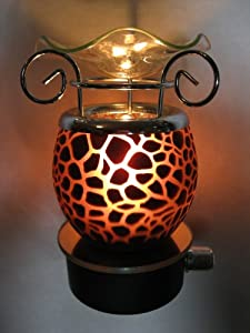 Amazon Com Brown Giraffe Animal Design Decorative Glass