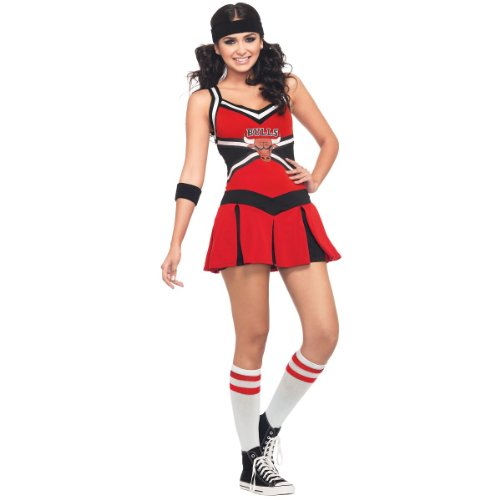 Leg Avenue NBA 2 Piece Chicago Bulls Cheerleader Dress, Red/Black, Small/Medium at Amazon.com