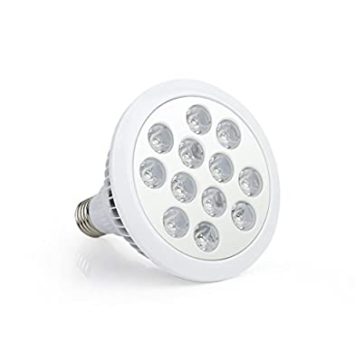 MZCH 24W 12 LED Grow Light Bulbs Plant Lights for Indoor Greenhouse Hydropoics Organic Flower Plants Vegetable Growth