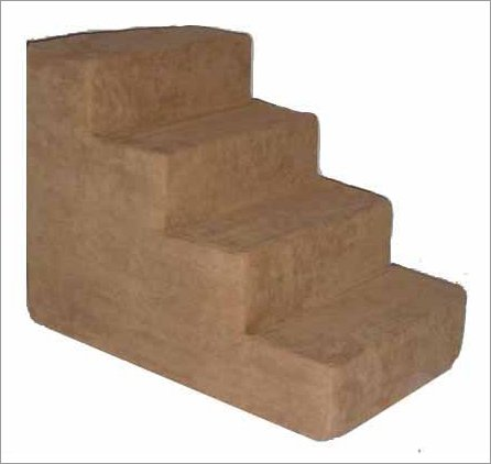 Best Pet Supplies ST2054S Pet Stairs in Light Brown with 4 Steps