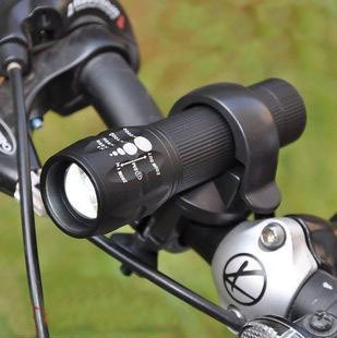 CREE Q5 Led 240 Lumens bike Bicycle Head Light Torch Set black