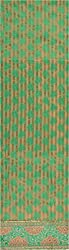 Krati Collections Women's Chanderi Unstitched Dress Material (Forn and Green)