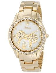 Disney MK2127 Rhinestone Gold Tone Bracelet