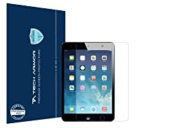 Tech Armor iPad Mini with Retina Display and iPad mini Screen Protector - Premium HD Clear with Lifetime Replacement Warranty [3-pack] - Frustration Free Packaging - Works with all iPad mini models