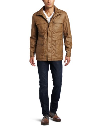 Mens Ben Sherman Military Jacket/ Carbon Coated