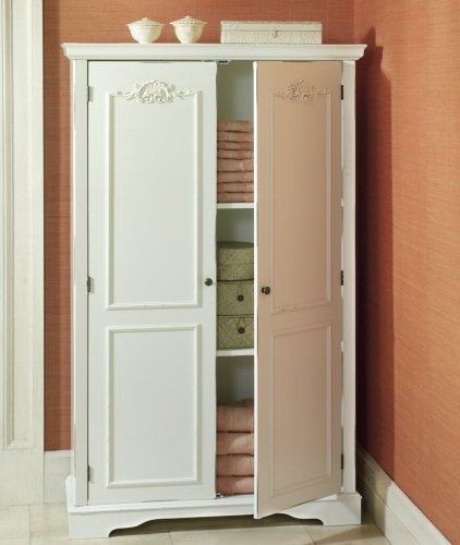 Superbe JCP Home Catherine Armoire In Antique Ivory