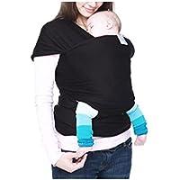 Magideal Newborn Baby Sling Breastfeeding Infant Stretchy Wrap Carrie Black