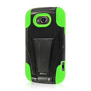 Empire MPERO IMPACT X Series Kickstand Case for ZTE Savvy Z750C - Retail Packaging - Neon Green