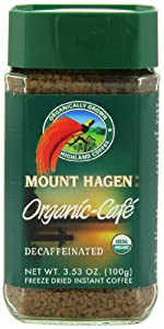 Mount Hagen Organic Freeze Dried Instant Decaffeinated Coffee, 3.53-Ounce Jars (Pack of 6) from Mount Hagen
