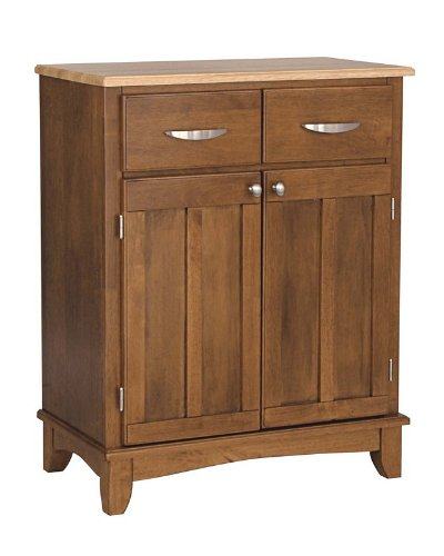 Cheap Server Sideboard with Natural Wood Top in Cottage Oak Finish (VF_HY-5001-0061)