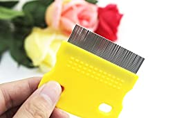 Tear Stain Remover Comb Pet\'s House Pet Comb For Eye and Tooth & Mouth & Ear (Yellow)