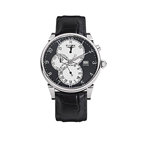 Elysee Men's Watch Daidalos Leather Strap Black