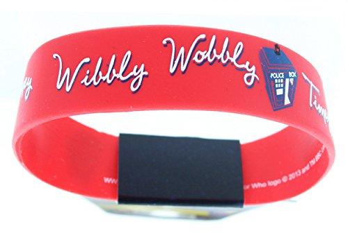 Dcotor Who TARDIS Wibbly Wobbly Timey Wimey Rubber Wristband