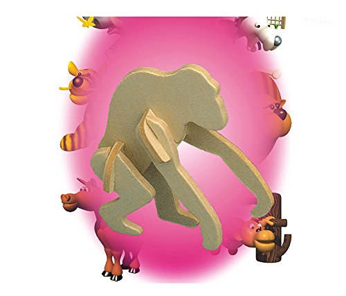 Puzzled Gorilla Mini Wooden 3D Puzzle Construction Kit - 1