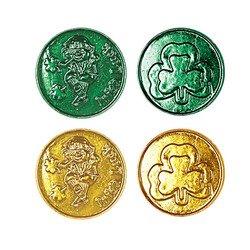 Lucky Leprechaun Plastic Coins (asstd green & gold)    (40/Pkg)