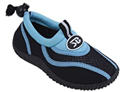 New Starbay Brand Kid\'s Blue & Black Athletic Water Shoes Aqua Socks Size 13