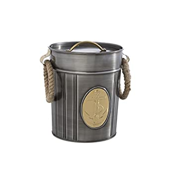 Shiraleah Seton Ice Bucket, Antique Silver