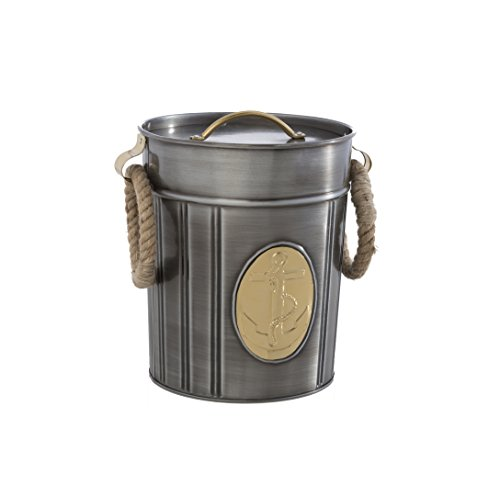 Shiraleah Seton Ice Bucket, Antique Silver 0