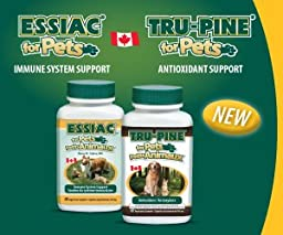 2 Essiac for Pets 60 capsules and 1 Tru-Pine for Pets 60 capsules