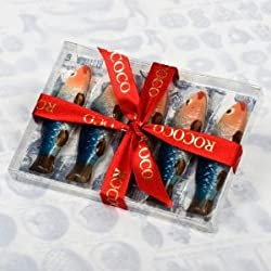 Hand-Painted Chocolate Sardines