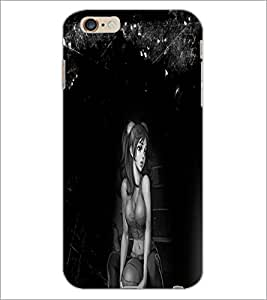 PrintDhaba Sad Girl D-3985 Back Case Cover for APPLE IPHONE 6 (Multi-Coloured)