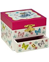 """Musicboxworld Jewellery Box With Drawer Playing """"A Little Night Music"""""""