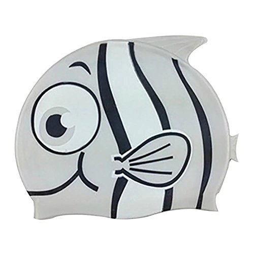 Skyflying Cute Cartoon Silicone Cap Swimming for Kids Swim Cap Grey (Men Swim Trunks Captain America compare prices)