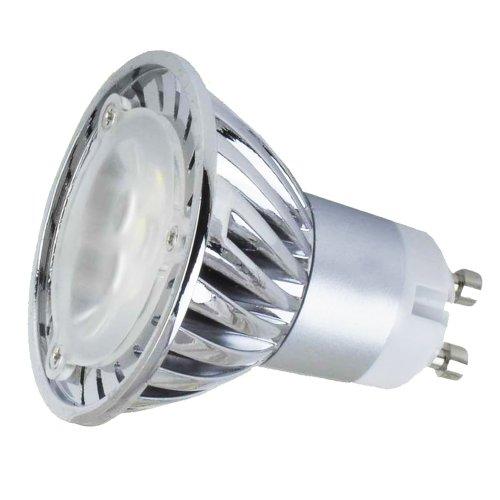 110V 3W Gu10 Led Bulb - 3200K Warm White Spotlight - 35Watt Halogen Equivalent - 220Lm 45 Degree Beam Angle - Standard Size