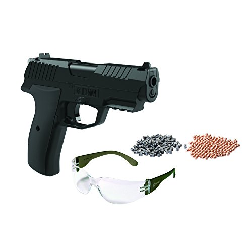Crosman CCICE7BKT Iceman Kit Pistol with 100 BBs/100 Pellets & Safety Glasses (Pellet Gun Rifle 1400 Fps compare prices)
