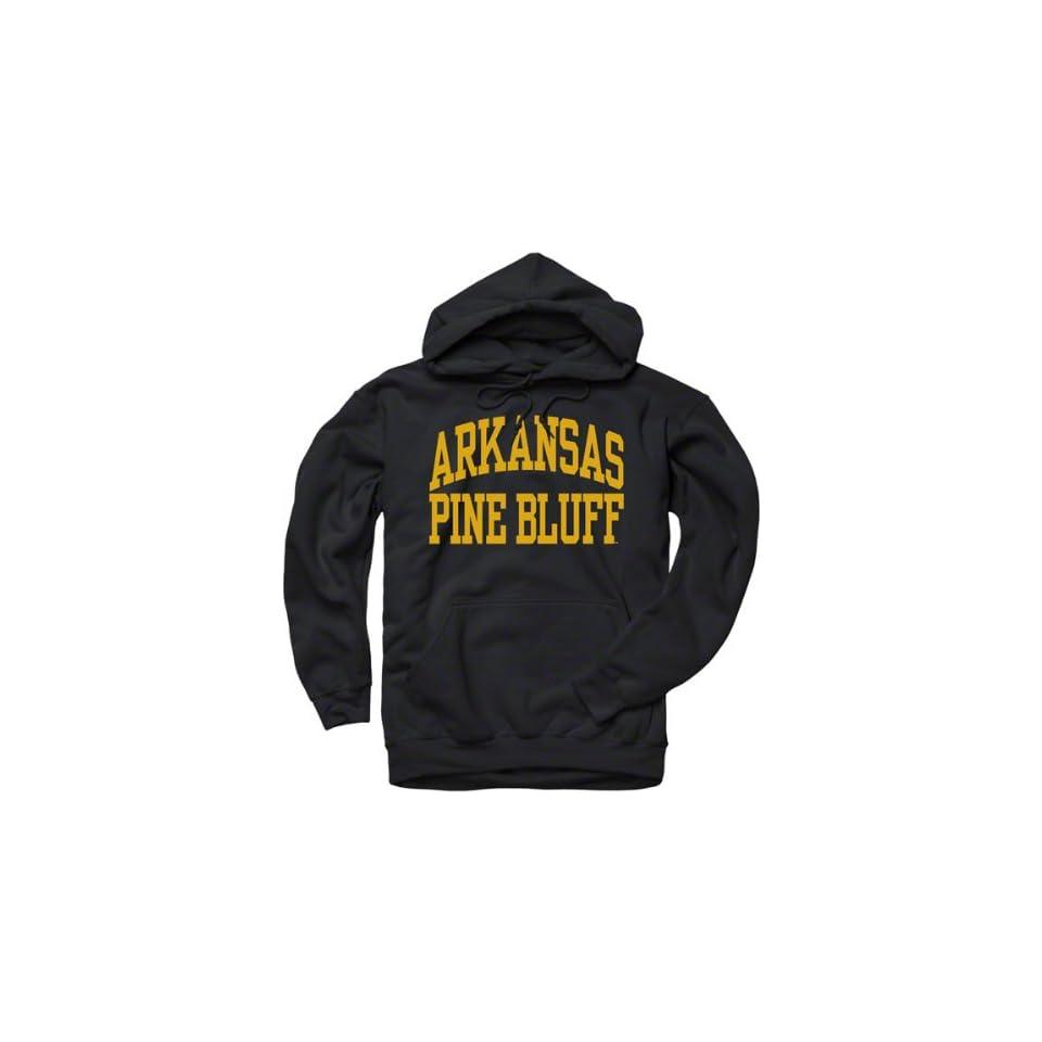 Arkansas Pine Bluff Golden Lions Black Arch Hooded Sweatshirt