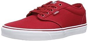 Vans Men's Atwood (Canvas) Red/White Skate Shoe 11.5 Men US
