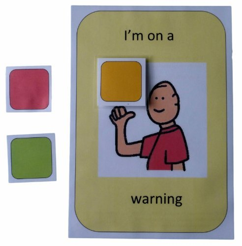 Autism Supplies And Developments PECS Colour Coded Behaviour Warning Board