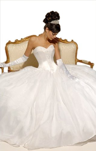 Ball Gown Sweetheart Court Train Wedding Dress With Ruffle/Beading Organza