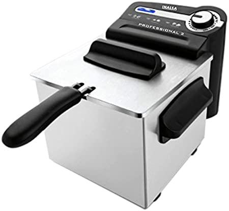 Inalsa Professional 2-Litre Deep Fryer (Black/SS)