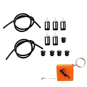HURI 1.5Feet Fuel Line Grommets Fuel Filter for Stihl BG75 BR320 FC75 FS40 FS56 FS80 FS85 HL75 HS80 HT75 KM85 SR320 SR340 SR400 SR420 by HURI