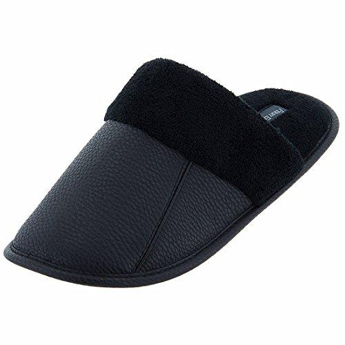 perry-ellis-portfolio-mens-black-scuff-slippers-xl-11-12