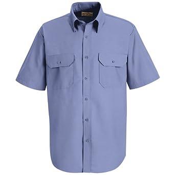 Buy Red Kap Mens Solid Dress Uniform Shirt XXXXX-Large Petrol Blue by Red Kap