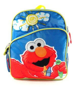 Misura piccola, motivo sole e pastelli, motivo: Elmo di Sesame Street-Zaino