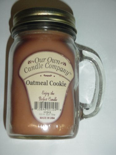 13 oz OATMEAL COOKIE Scented Jar Candle (Our Own Candle Company Brand) Made in USA - 100 hr burn time