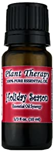 Holiday Season Synergy Essential Oil Blend. 10 ml. 100% Pure, Undiluted, Therapeutic Grade. (Blend of: Sweet Orange, Cinnamon Bark, Ginger and Nutmeg)