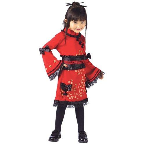 [China Doll Girls Toddler Halloween Costume sz 3T-4T] (Chinese Doll Halloween Costume)