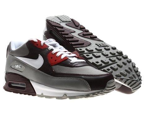 acf12f3389280 Nike Air Max 90 Mens Running Shoes Team Red White-Medium Grey-Varsity