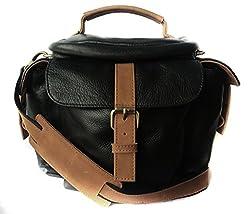 Genuine Leather Bag for Panasonic Lumix GH4K 16MP DSLR Camera (#MN_BLACK)