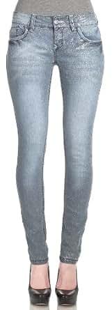 WallFlower Juniors Sassy Skinny Glitter Jeans