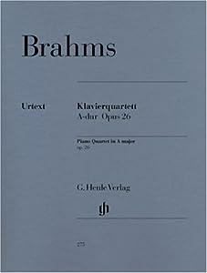 Piano Quartet A major op. 26piano quartet from G. Henle Verlag