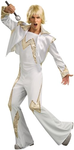 Rubies Mens 70s Disco King Outfit Adult Halloween Costume
